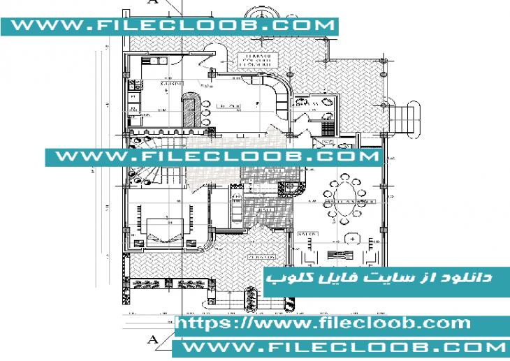 دانلود نقشه ویلای دوبلکس به صورت اتوکد dwg / ویلا / طراحی ویلا / پلان ویلای دوبلکس