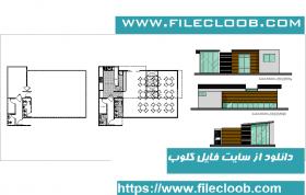 دانلود نقشه معماری و پلان رستوران